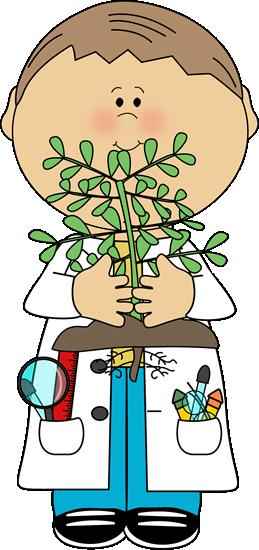 clip art transparent Smart kid clipart. Boy scientist with plant