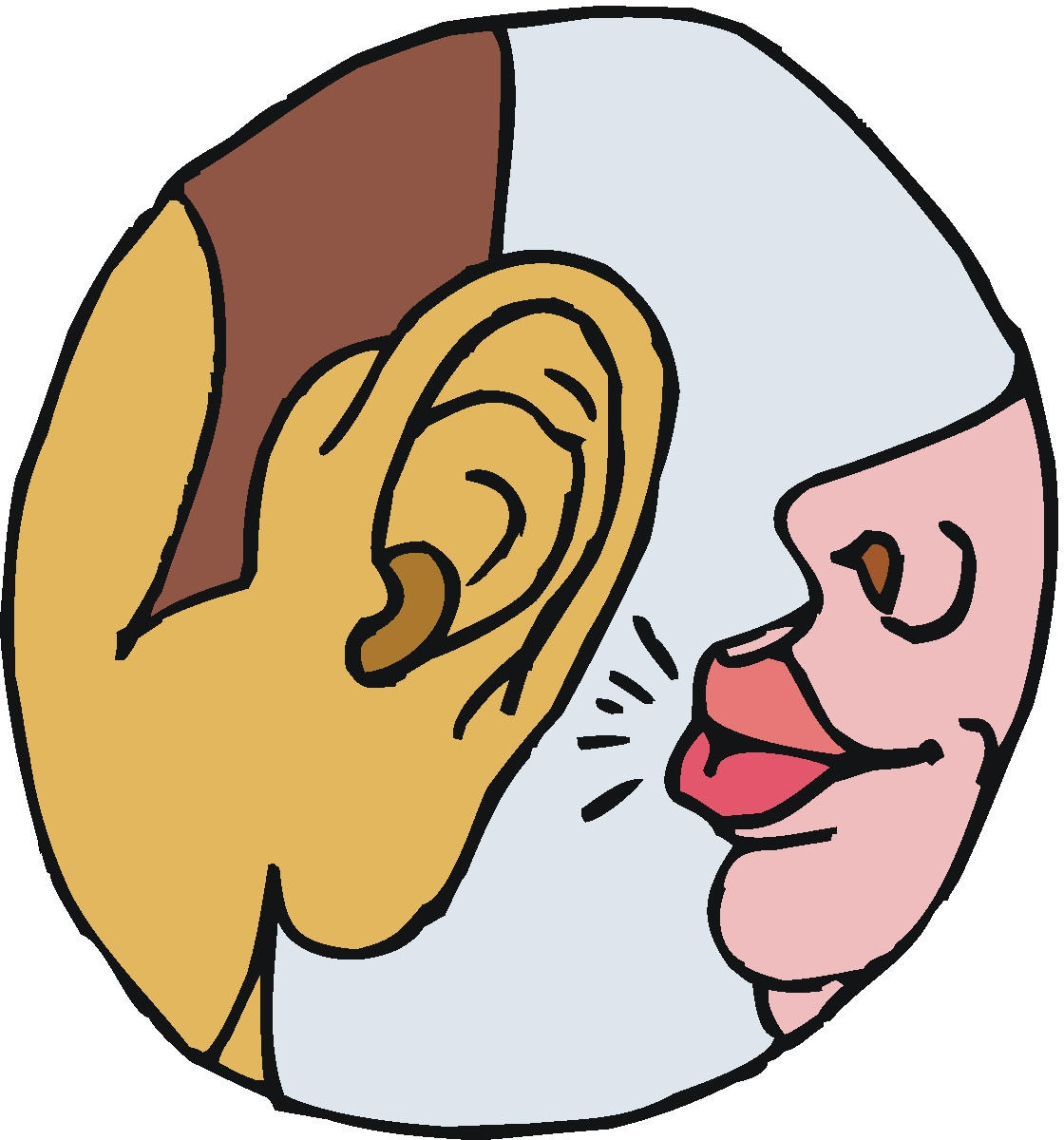 clipart free library Free cliparts download clip. Whisper clipart ear hearing