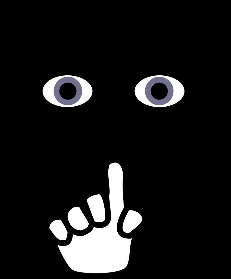 vector transparent download Whisper clipart shh. Quiet please clip art