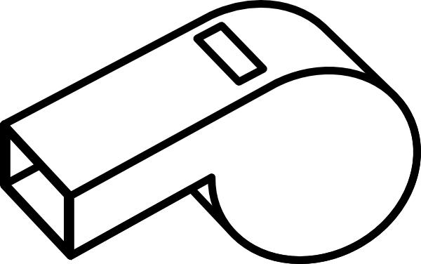 clipart black and white stock Ref Whistle Clipart
