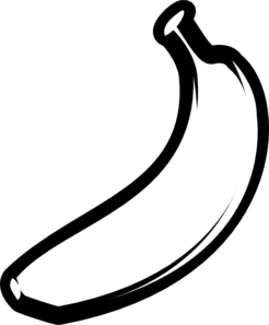 clip art black and white stock Bananas drawing artistic. Banana outline fat clip