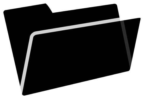 svg freeuse Folder Black Clipart