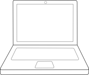 png black and white Laptop Clip Art at Clker