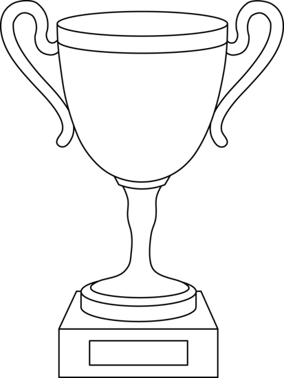 clip royalty free library Cup . Trophy clipart black and white