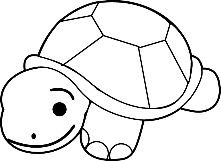 graphic free stock Black and white turtle