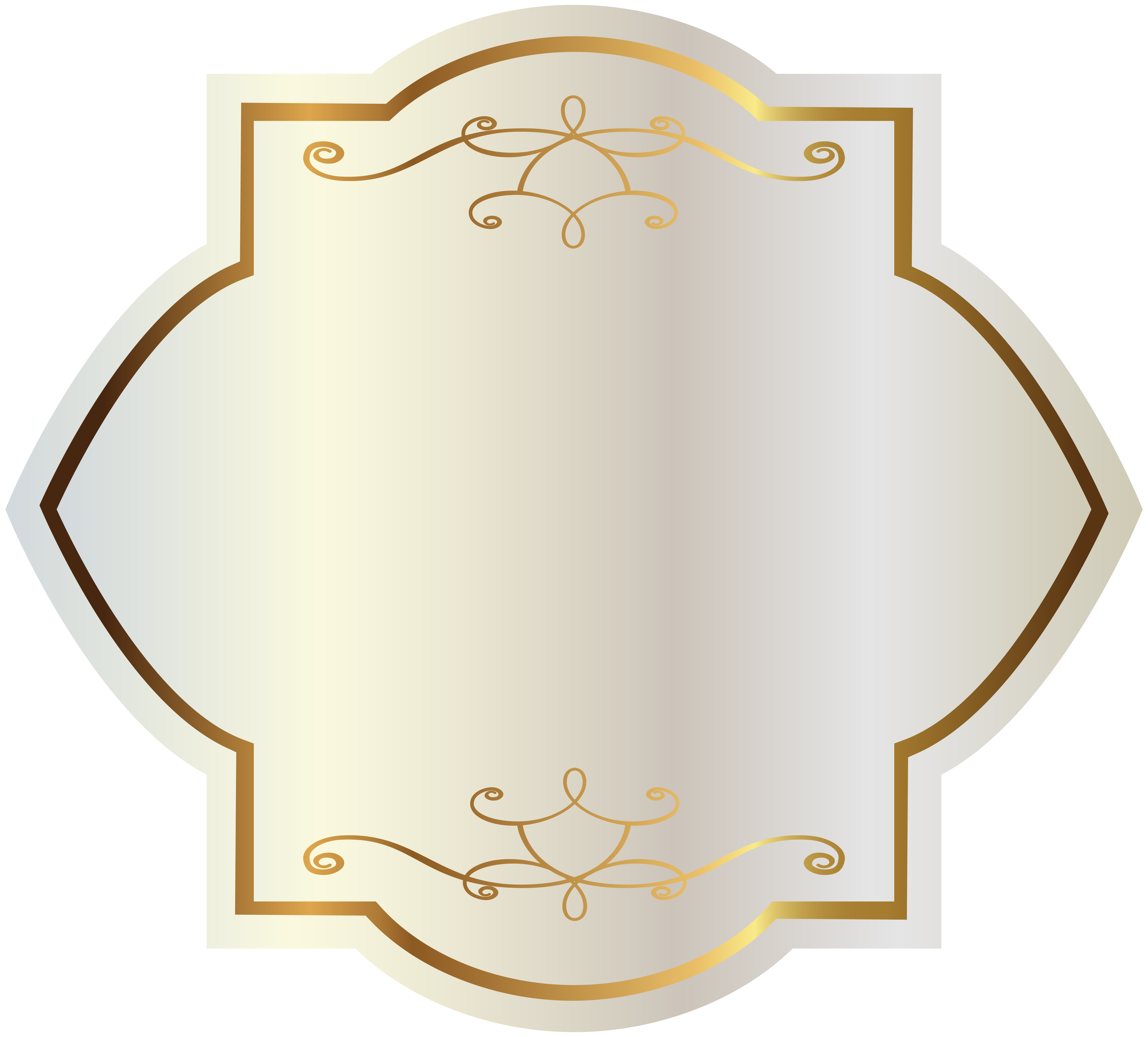 vector stock With gold decorations png. White label clipart