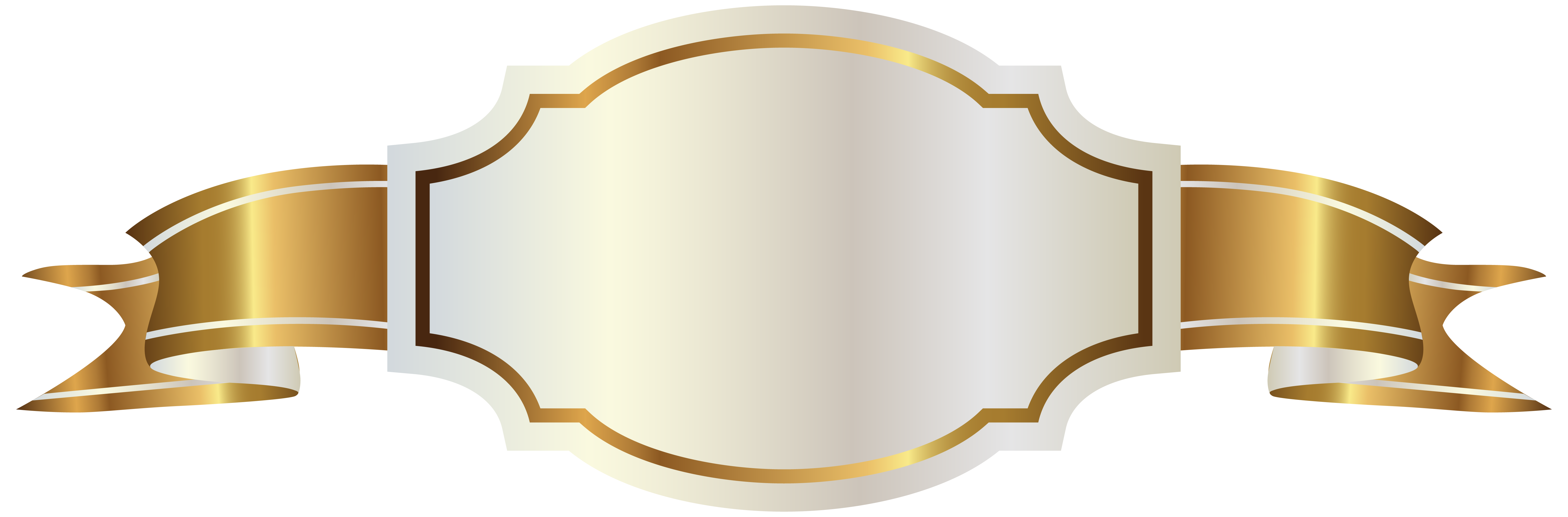 picture transparent library White label clipart. And gold banner png