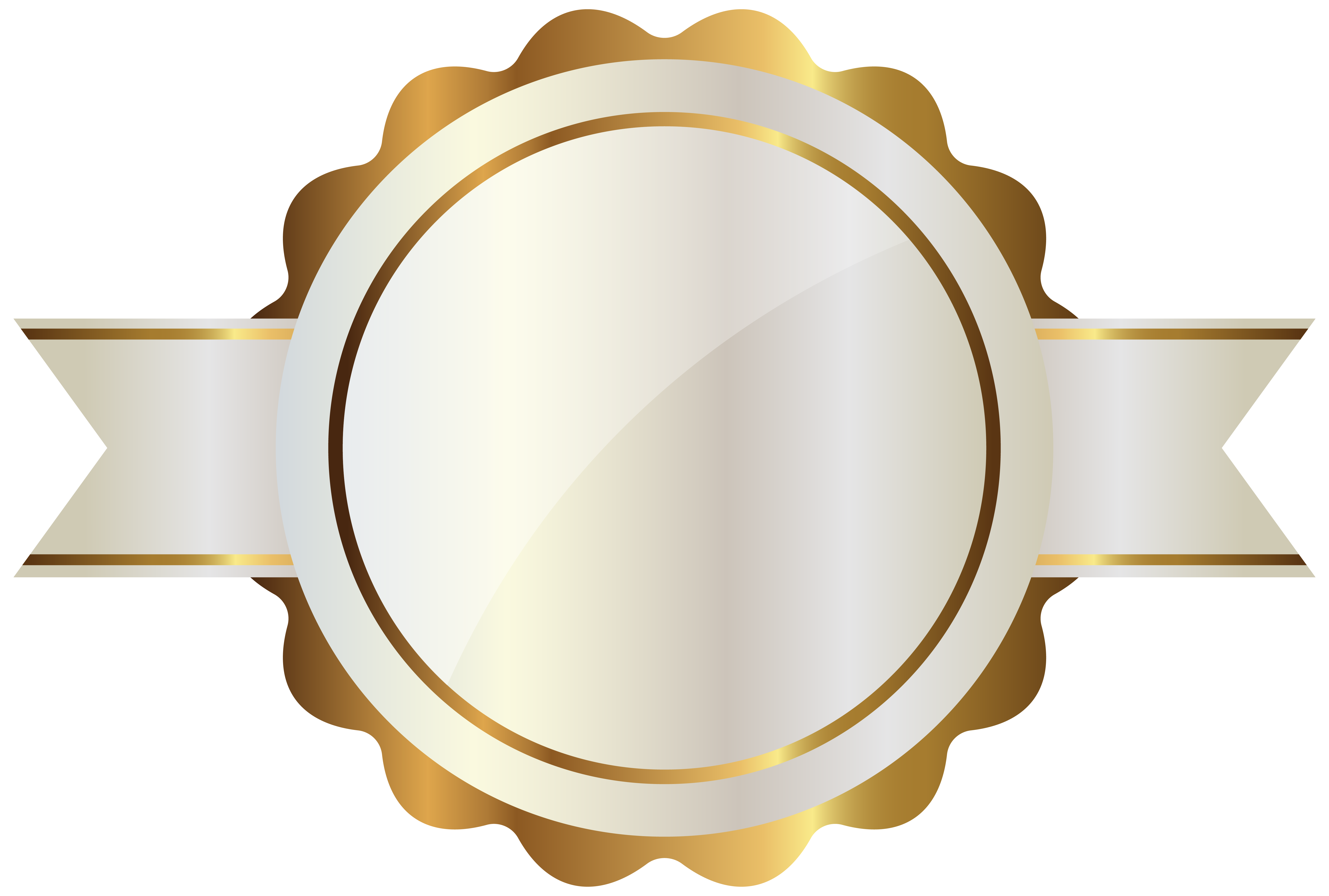 png White label clipart. With gold png image