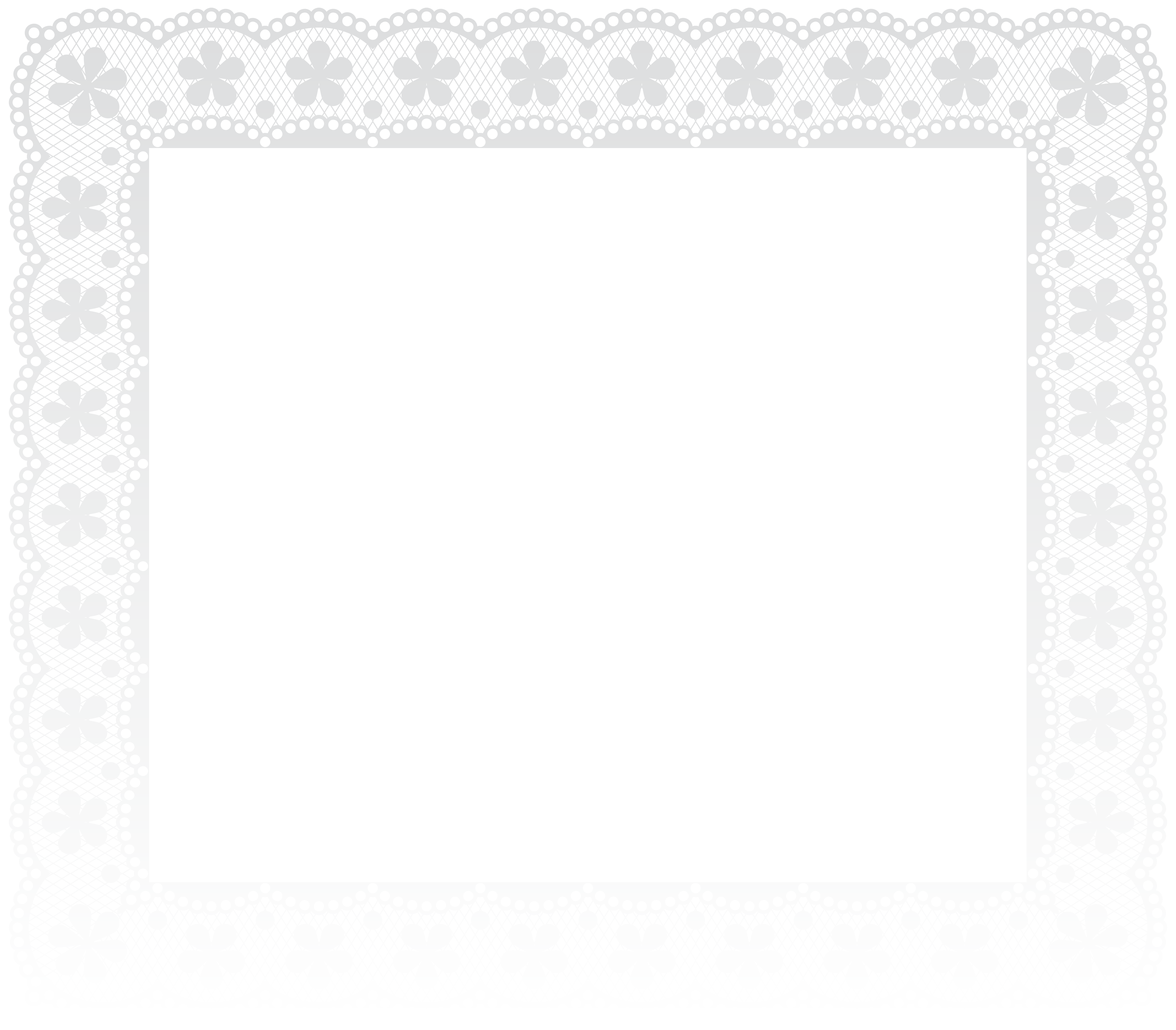svg royalty free stock Border frame png clip. White lace clipart