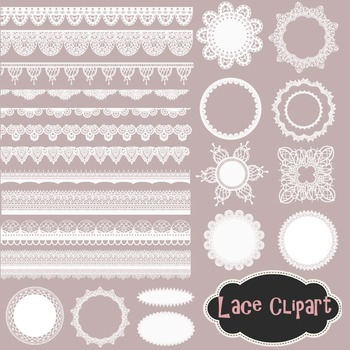 vector freeuse Doily clip art frame. White lace clipart