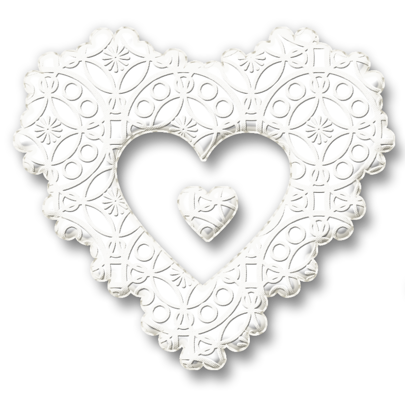 clip art library library White lace clipart. Karenphoto heart by on