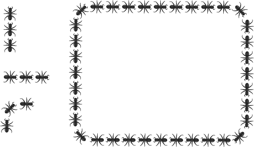 graphic royalty free stock Ant border rectangle i. Clipart of ants