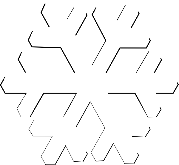 image freeuse White Snowflake Clipart Transparent Background