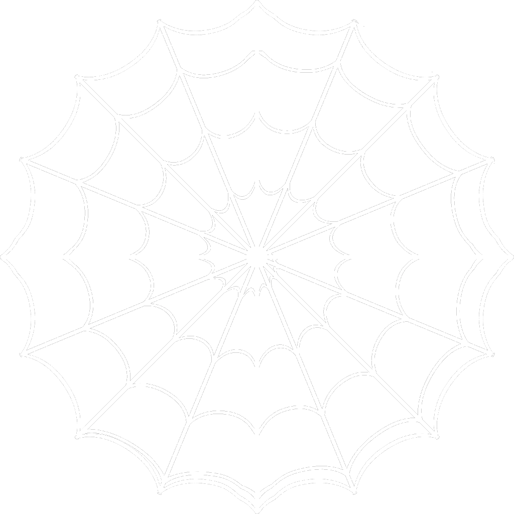 svg freeuse stock White spider web clipart. Clip art library