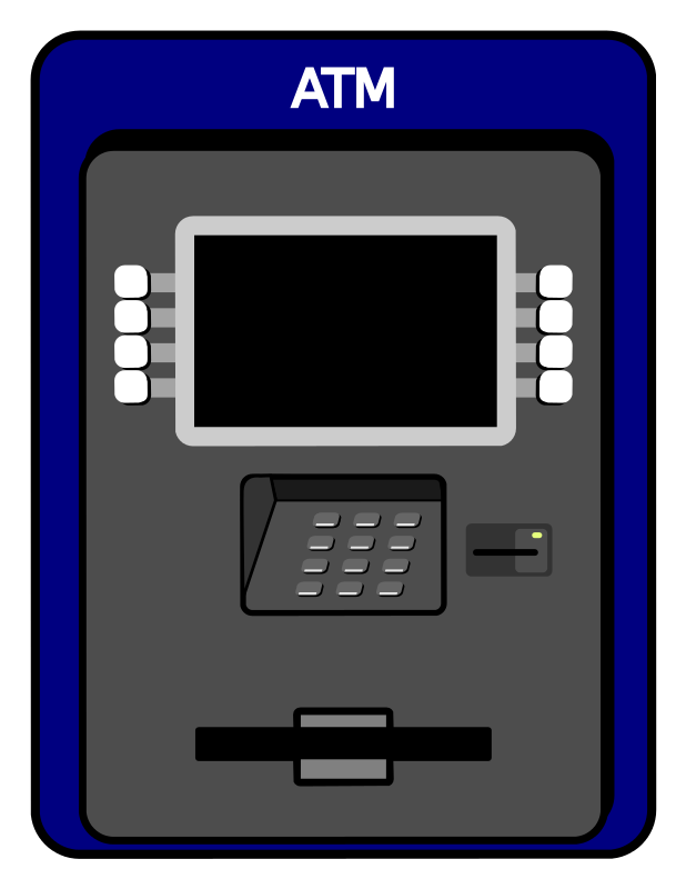clip library stock Free Simple Atm Machine Clip Art
