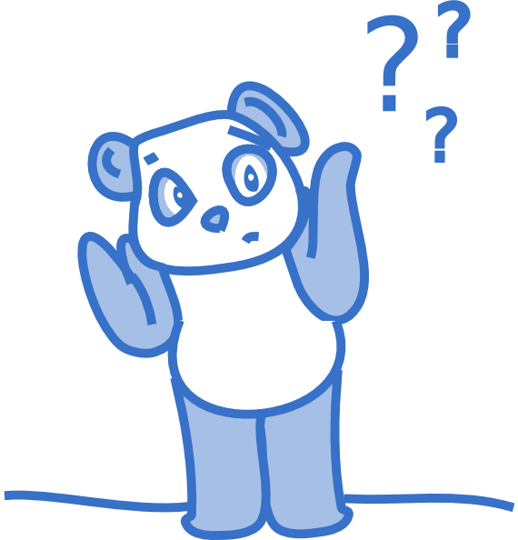 svg royalty free Why clipart confused. Panda clip art at