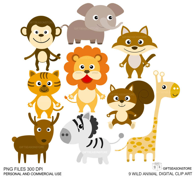 banner royalty free Wild animal clipart. Clip art bay