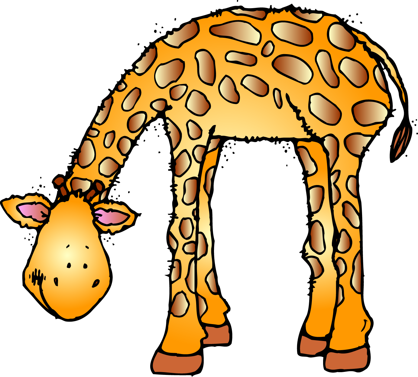vector free Zoo clipart free. Animals jirafas pinterest happy