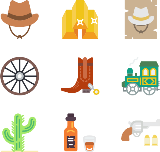 picture freeuse stock Wild west clipart. Cowboy icon png clip.
