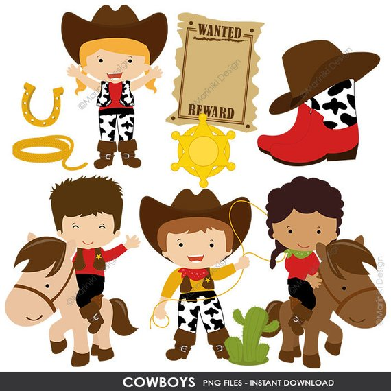 png freeuse library Cowboy cowgirl clip art. Western clipart images.