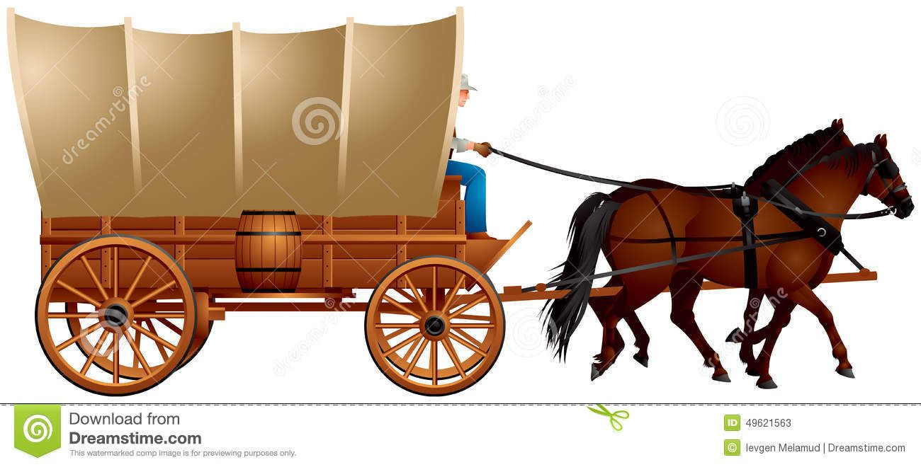 graphic black and white library Wild west covered me. Western wagon clipart