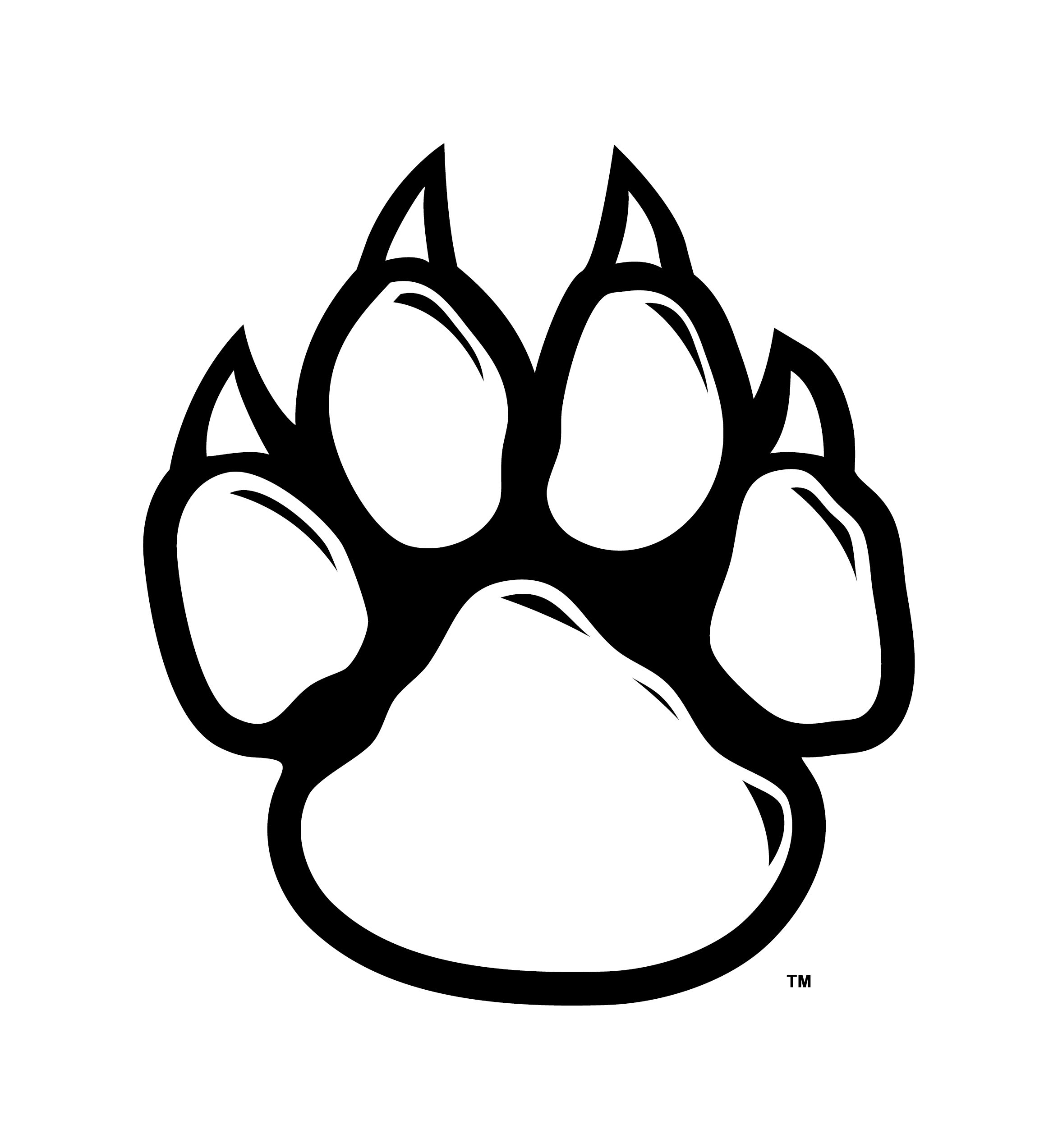 clip royalty free download Paw prints free download. Wildcat clipart