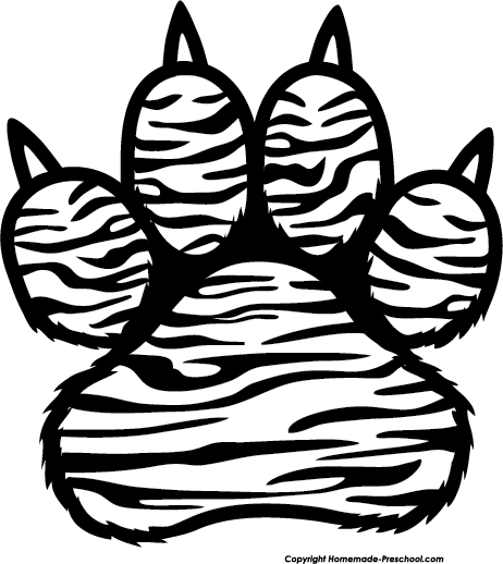 banner black and white stock Tiger Claw Drawing at GetDrawings