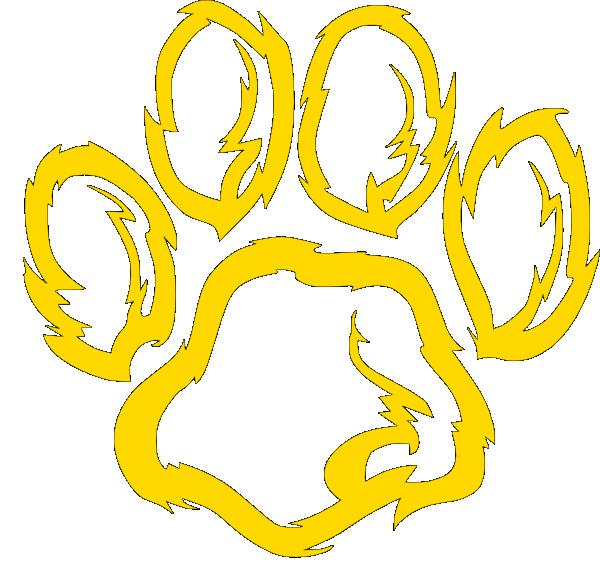 clip art royalty free stock Wildcat Paw Golden Clip Art at Clker