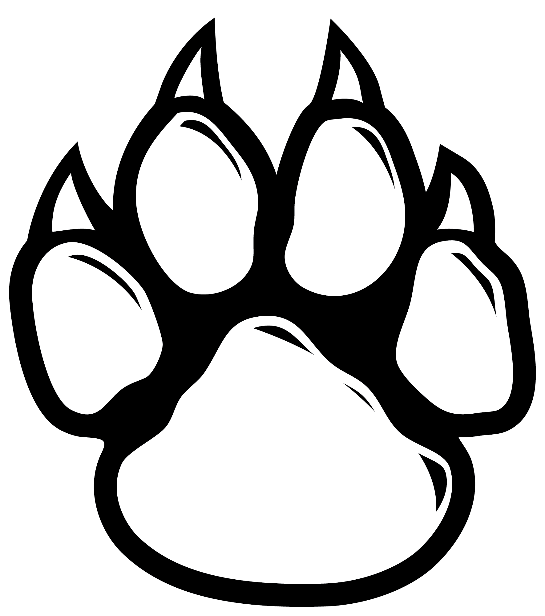 graphic library download Wildcat paw dog clip. Wildcats drawing