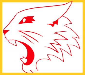 clipart freeuse stock How to draw high. Wildcats drawing
