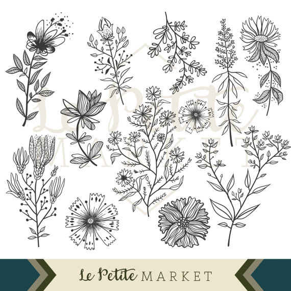 clipart royalty free library Pin on products . Wildflower clipart