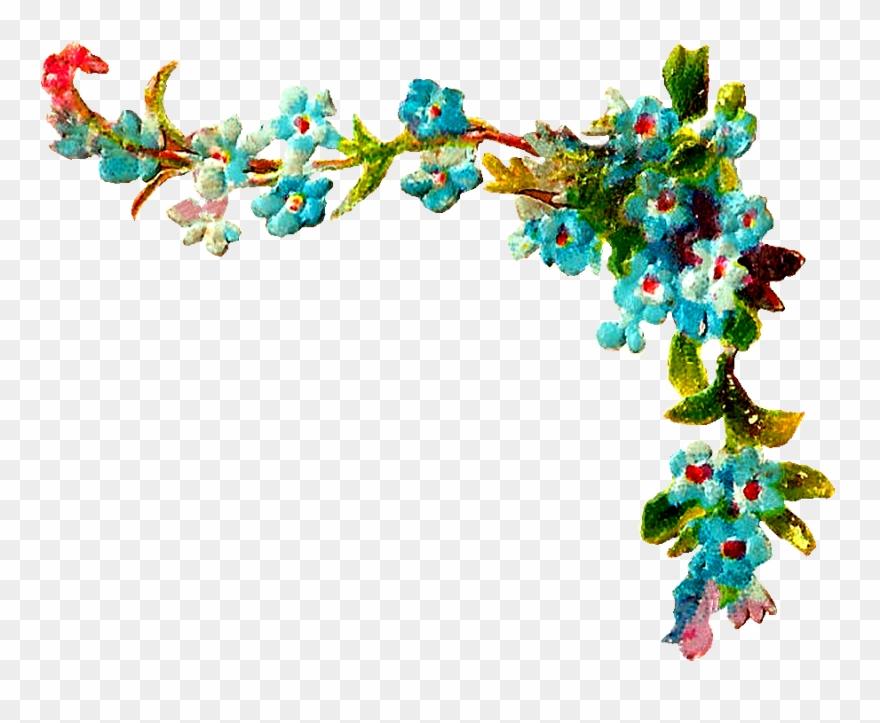 jpg transparent Clip art wild png. Wildflower clipart corner border flower