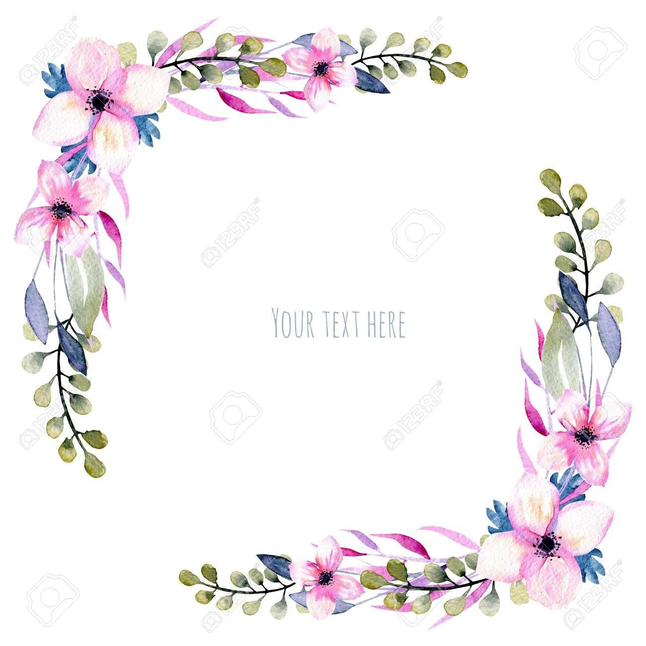jpg download Wildflower clipart corner border flower. Stock photo skiss