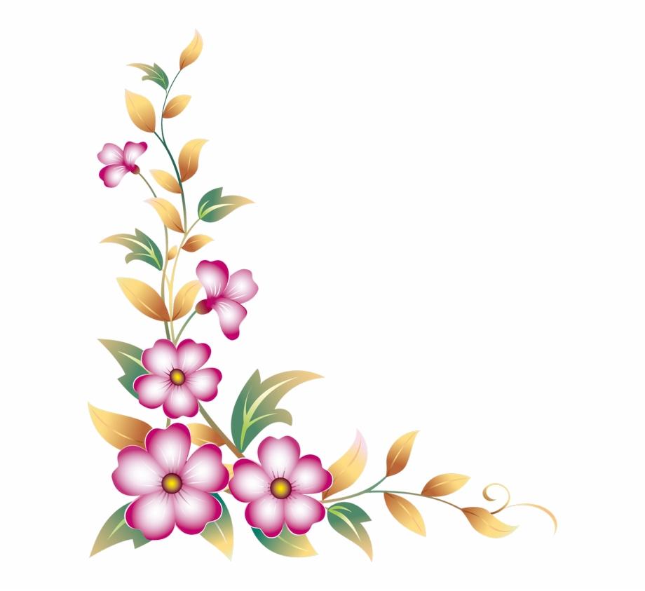 clipart stock Daisy side design free. Wildflower clipart corner border flower