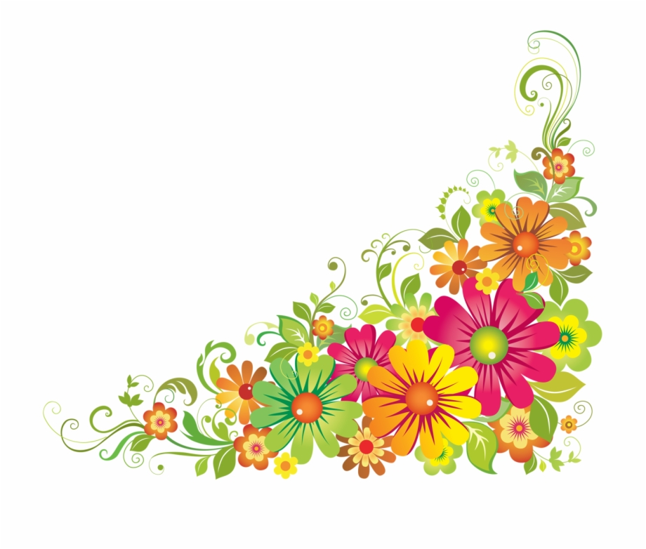 svg black and white download . Wildflower clipart corner border flower