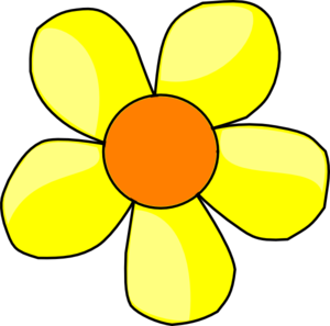 graphic transparent Yellow Flower Clip Art at Clker