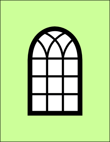 clipart free library Arched window card and window frame svg