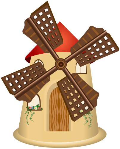 transparent library Windmill clipart. Png clip art best