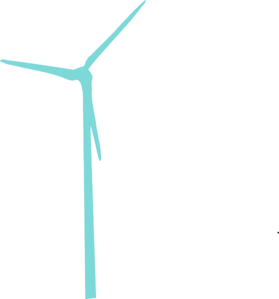 image royalty free download More teal wind turbine. Windmill clipart energy windmill