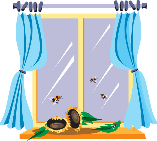 picture free download Window clipart. Bees at the clip