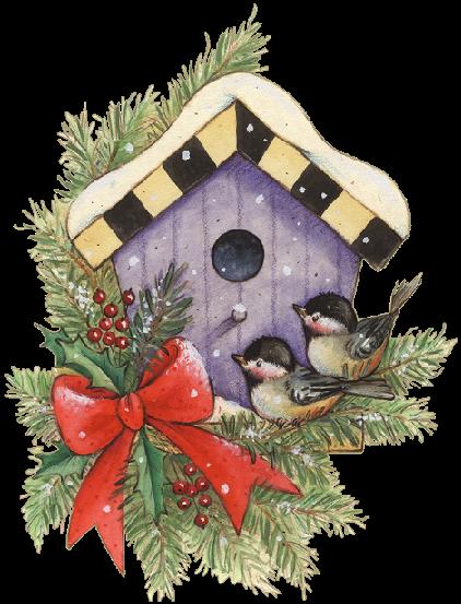 clip royalty free stock Birds and birdhouse pinterest. Window clipart christmas