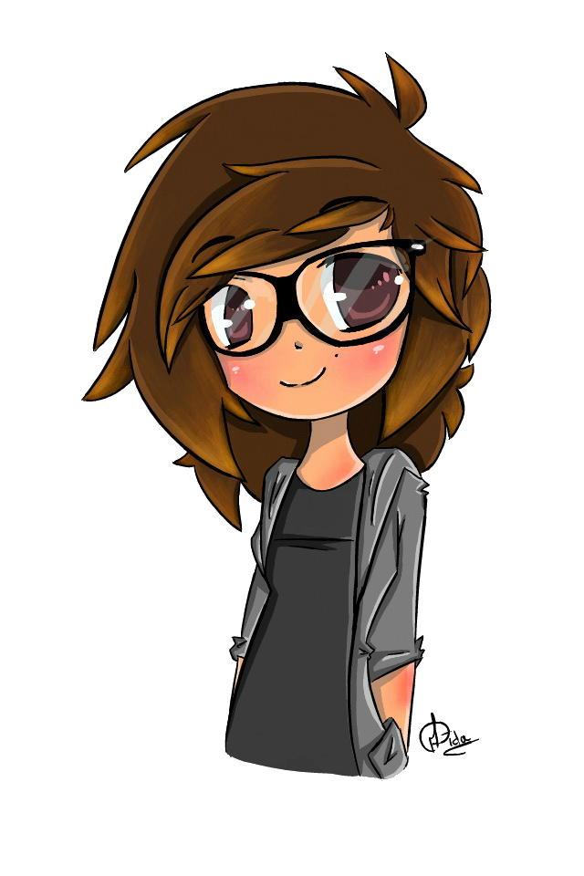 clipart free library Self by aidadoesdoodles on. Drawing portrait anime