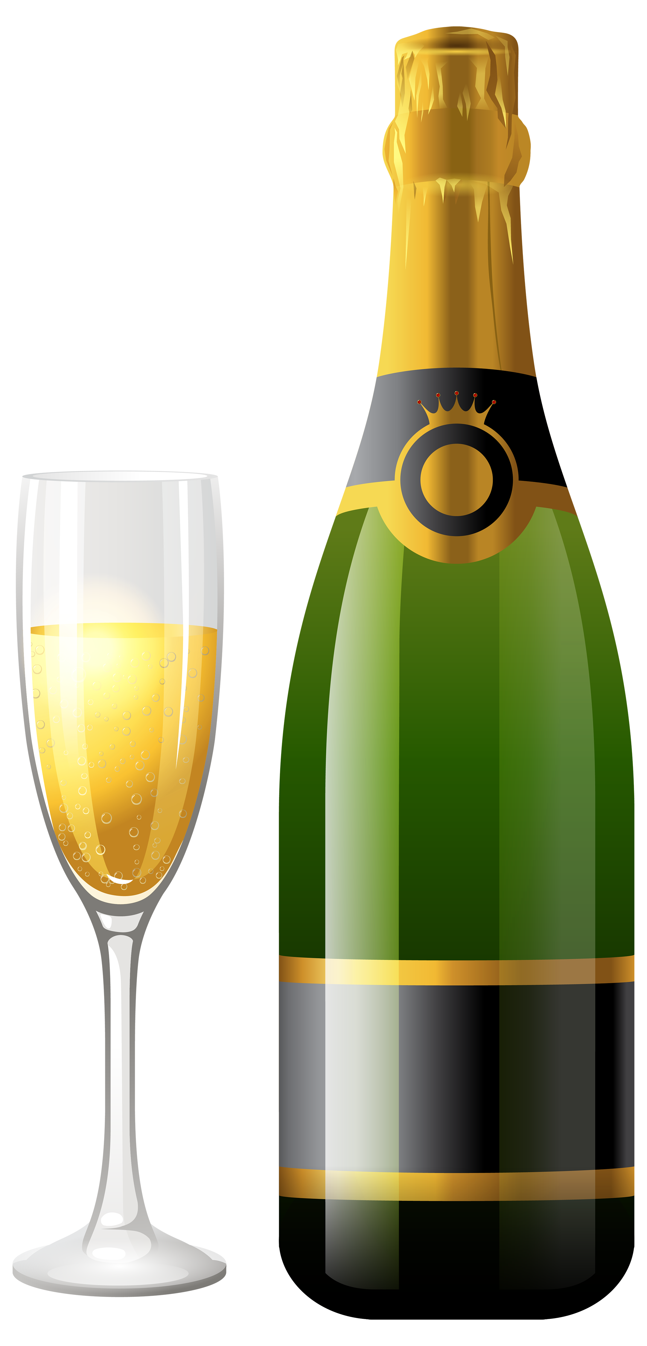 picture black and white library Champagne with glass png. Vector bottle bottel