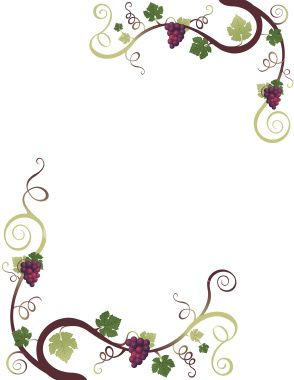 graphic royalty free library Wine clipart borders. Free cliparts border grapes.