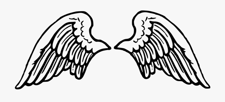 graphic library download Wing clipart. Wings tattoos silhouette angel
