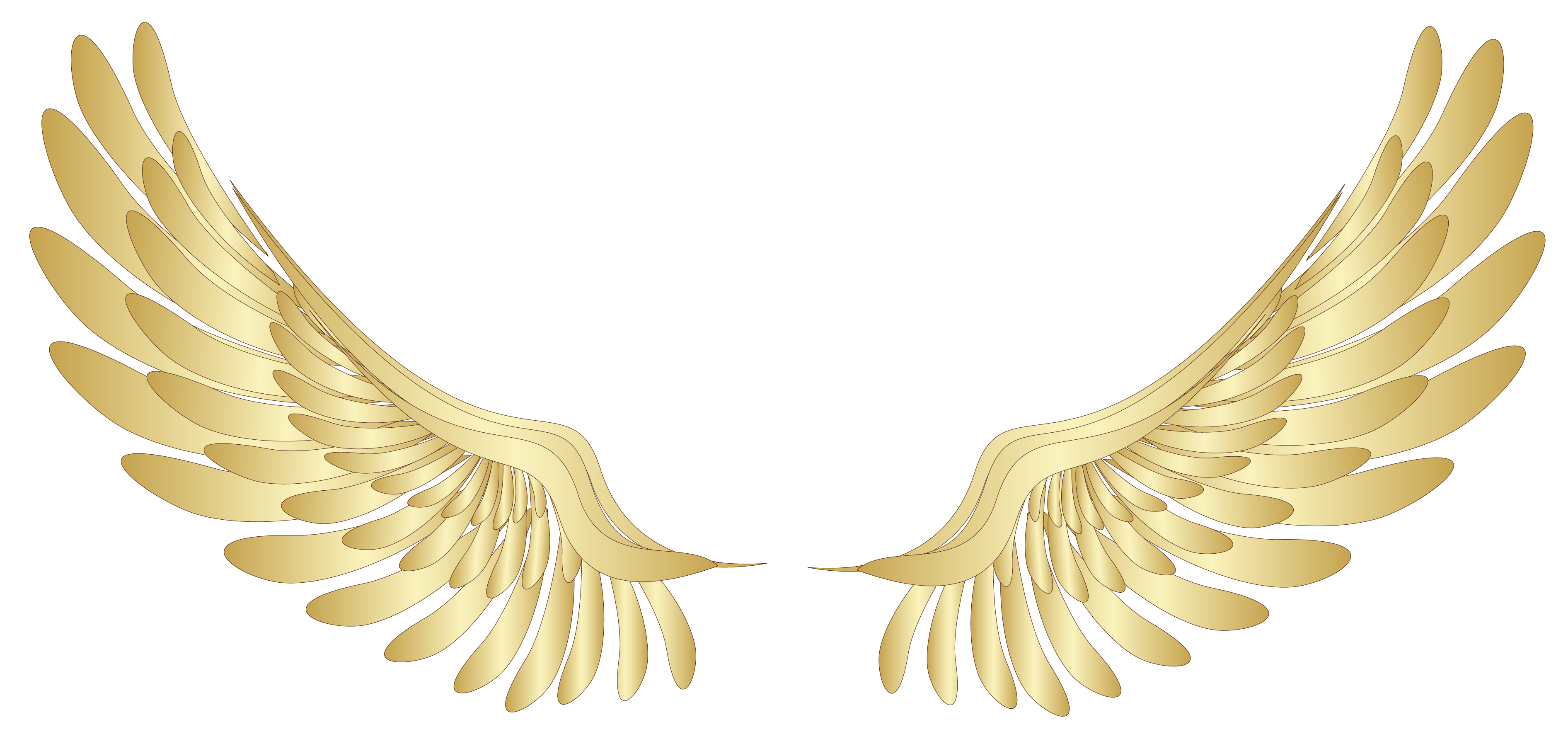 svg transparent stock Wing clipart. Golden wings decor png