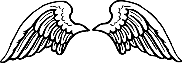 banner black and white Free peterm wings clip. Vector angel black and white