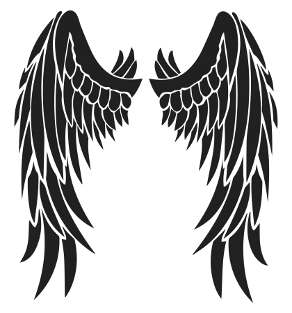 clipart library Angel Devil Wings Tattoo Design