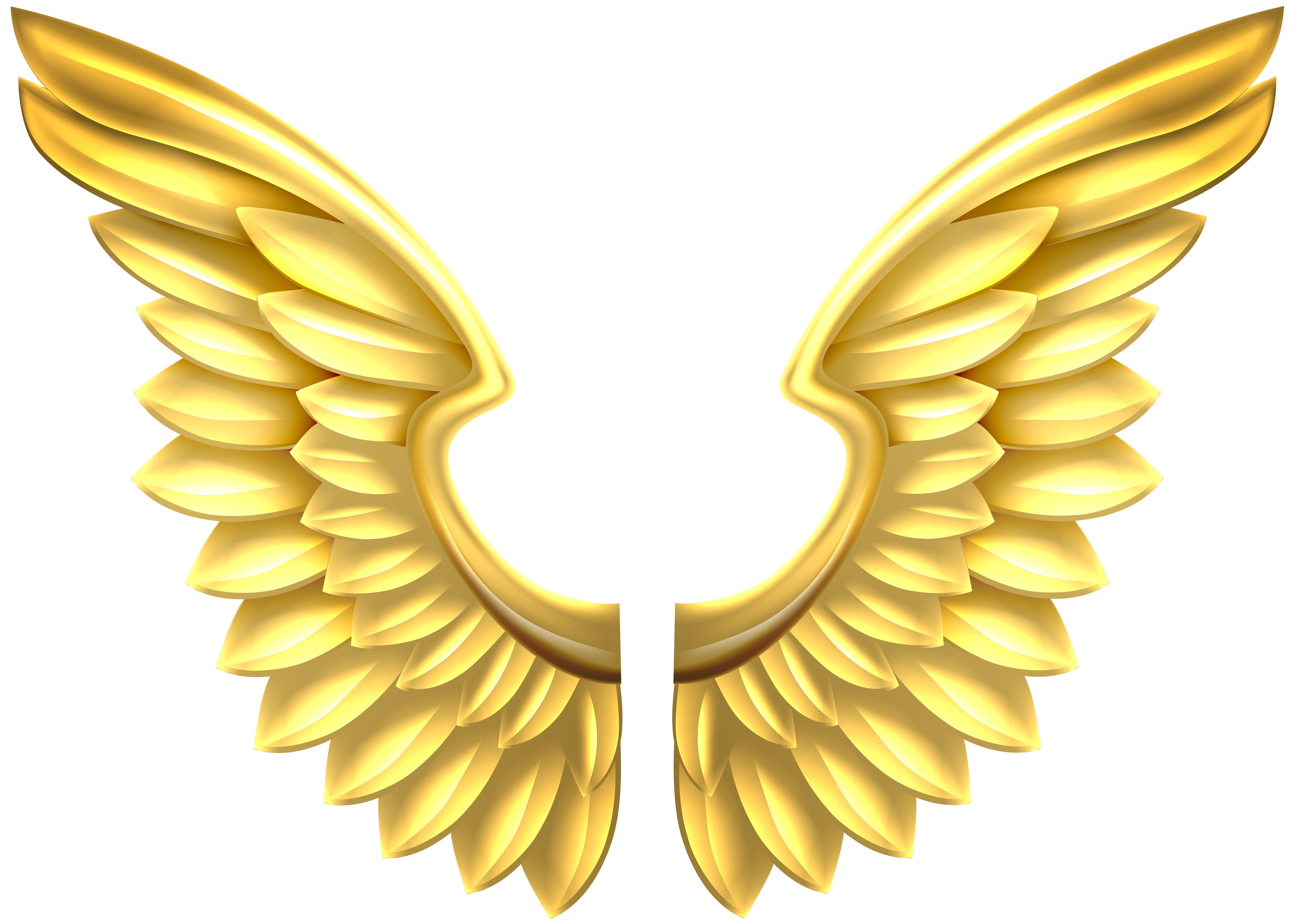 png library download Gold transparent png clip. Wings clipart