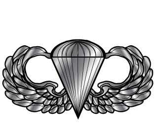 picture stock Airborne parachutist badge shepherd. Wings clipart jumpmaster
